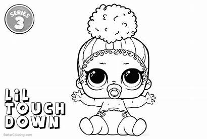 Lol Coloring Pages Series Touchdown Lil Printable