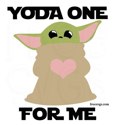 Files are ready to use with all other major electronic cutting machines. Free Baby Yoda SVG File - Yoda One For Me in 2020 | Free ...