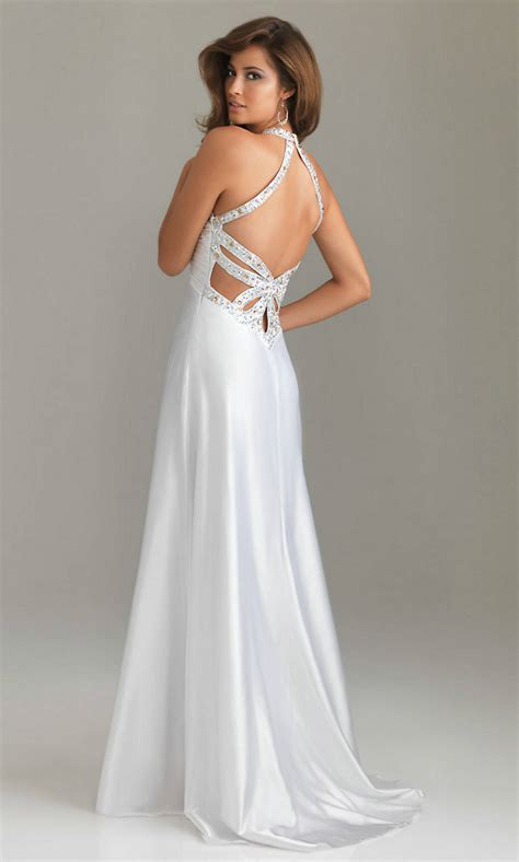 Elegant Long White Prom Dresses | fashionoah.com