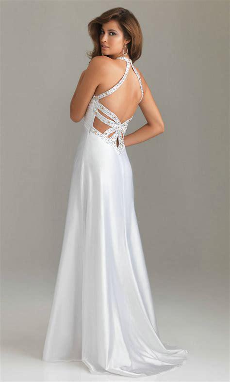 Elegant Long White Prom Dresses Fashionoahcom