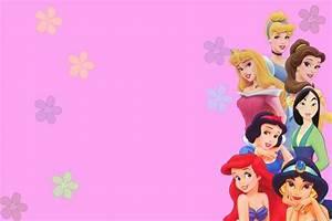 Disney princess for girl birthday invitations ideas for Free printable disney wedding invitations templates