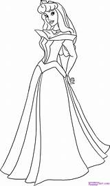 Coloring Pages Princess Disney Aurora sketch template