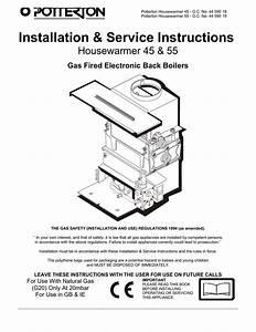 Installation  U0026 Service Instructions Housewarmer 45  U0026 55