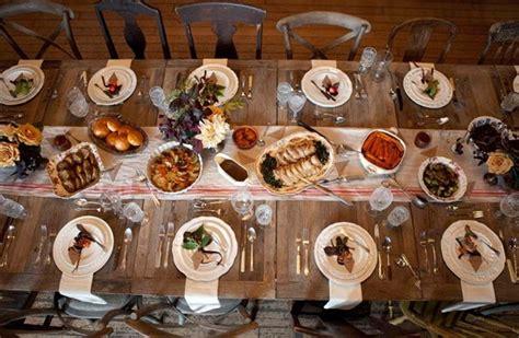 rustic family style dinner decor wedding ideas