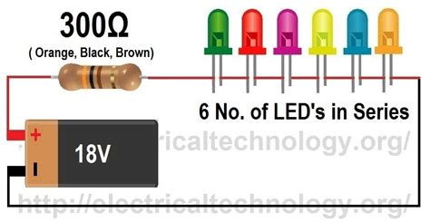 How Calculate The Value Resistor For Led