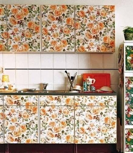 removable wallpaper  kitchen cabinet