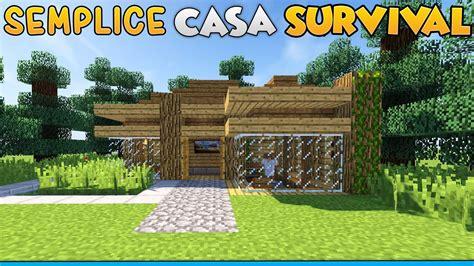 come costruire una semplice casa per il survival su minecraft