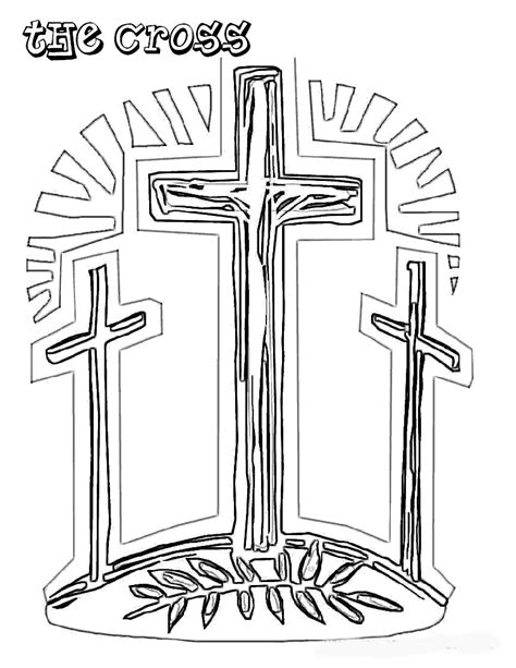 printable easter coloring pages religious church