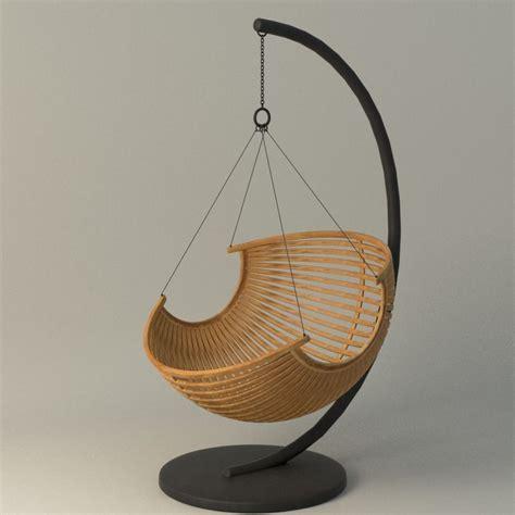 wood hanging chair cgtrader