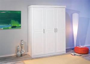 Kleiderschrank 160 Cm Hoch : kleiderschrank magnus 3 t ren kiefer massiv wei lackiert ~ Watch28wear.com Haus und Dekorationen