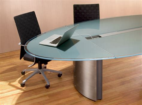 conference room table furniture oval glass conference table stoneline designs
