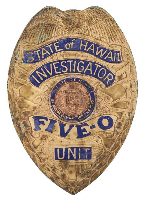 lot detail hawaii   police badge cbs loa