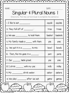 fall printables nouns  grade nouns  verbs