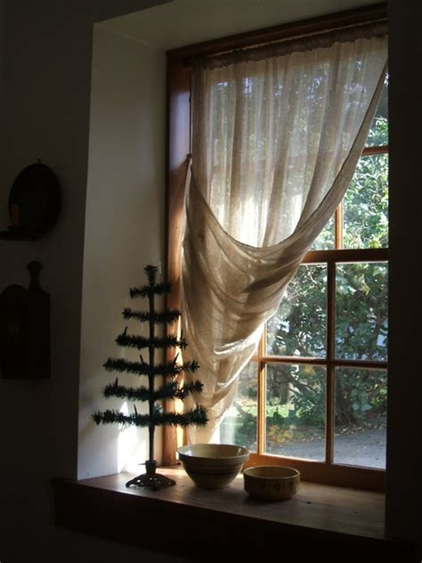 Tie Up Shade Curtain by Tobacco Cloth Curtains Tobacco Cloth Curtains