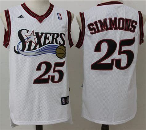 ers  ben simmons white throwback stitched nba jersey