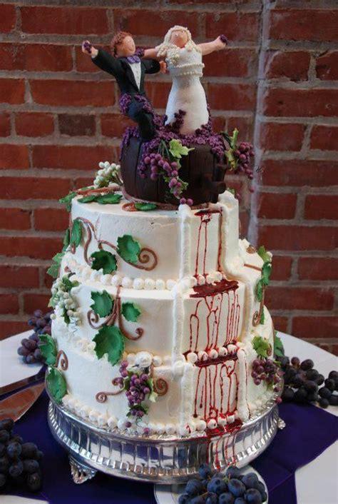 wine themed cake wedding cakes   cake themed