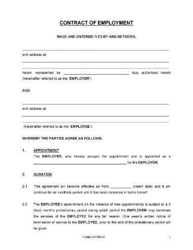 10+ Pre-Employment Agreement Templates in Google Docs | Word | Pages | PDF | Free & Premium