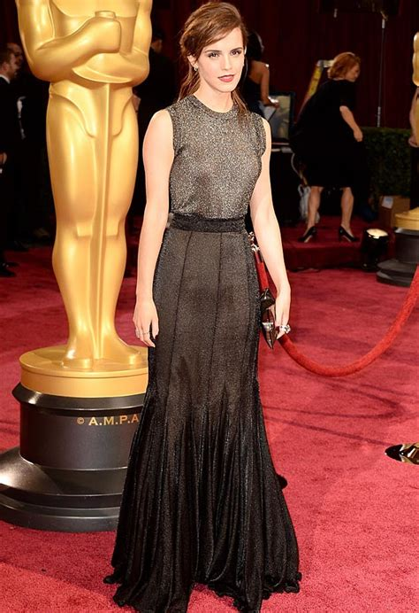 Emma Watson Wears Vera Wang Dress Oscars Photos