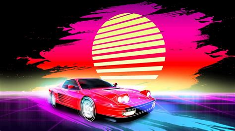 Car Wallpaper Retro by Car Retro Artwork 4k Retro Wallpapers Hd Wallpapers