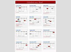 Calendário Março 2019 – Brasil Calendário