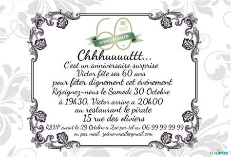 Invitation Anniversaire Surprise 60 Ans