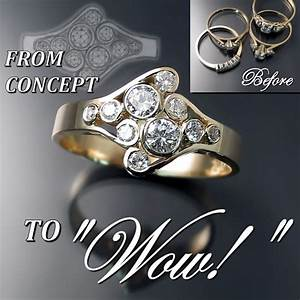 custom jewellery design before and after zoran designs With wedding ring redesign ideas