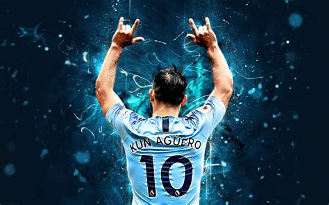 Download wallpapers Sergio Aguero back view Argentine
