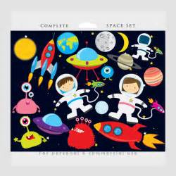 Astronaut Space and Planets Clip Art