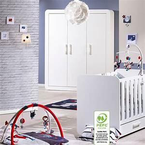 chambre bebe duo astride blanc lit et armoire 3 portes 30 With chambre bébé design avec fleuriste livraison Á domicile