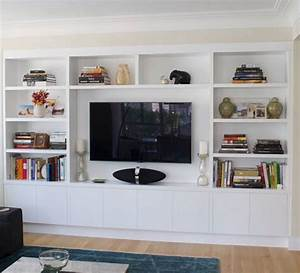 Custom Built-in Wall Units Modern Storage Solutions