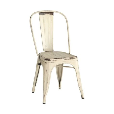 coaster bellevue metal dining chair in white 105615
