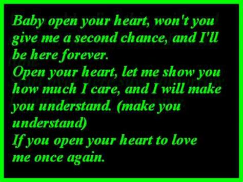 westlife open  heart lyrics youtube