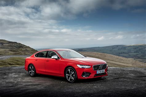 Red Car Volvo S90 D5 R-design, 2017 Wallpapers And Images