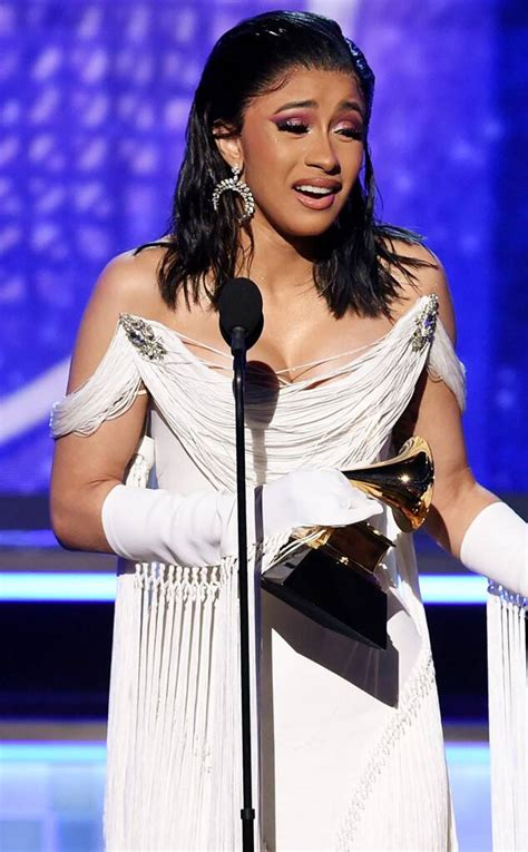 Cardi B Holds Back Tears as She Makes History With Best ...