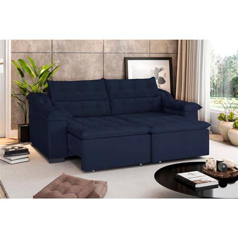 casas bahia sofa  lugares retratil  reclinavel preco