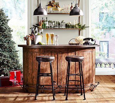 pottery barn kitchen cabinets demilune bar cabinet pottery barn 4375