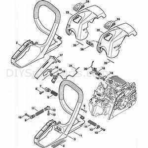 Stihl Ms 211 Chainsaw  Ms211c  Parts Diagram  Handle Frame