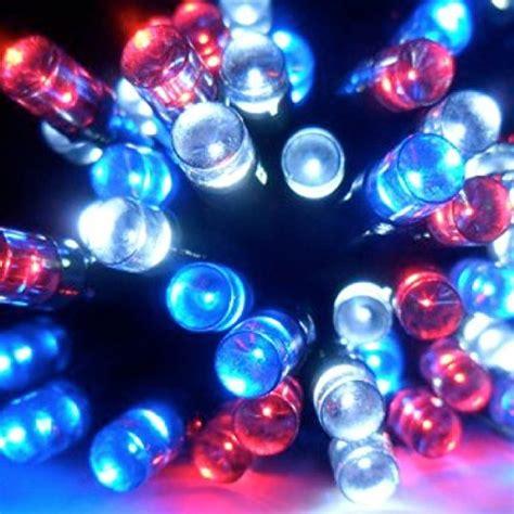 red white and blue solar lights devida patriotic red white blue solar string lights