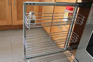 Wall Mounted Chrome Spice Rack by Spice Rack In Cabinet Pull Out 3 Shelves 5 5 Quot Wide Wall