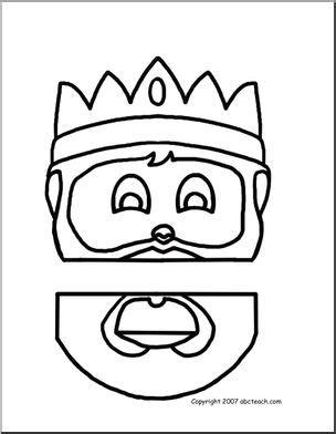 paper bag puppet medieval king abcteach
