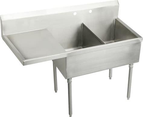 stainless steel utility sinks free standing elkay ss8230lof2 2 faucet holes sturdibilt 55 1 2 quot