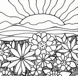 Sunset Pages Coloring Printable sketch template