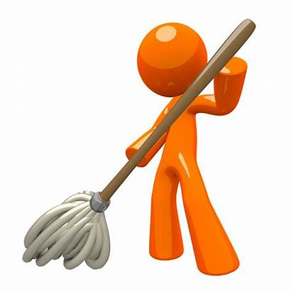 Cleaning 3d Mopping Orange Clipart Floor Services