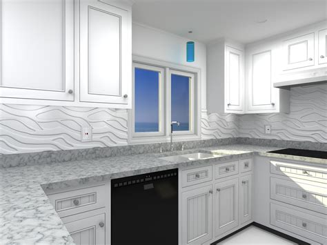 Kitchen Paneling Ideas by 3d Wall Panels As A Backsplash Search House