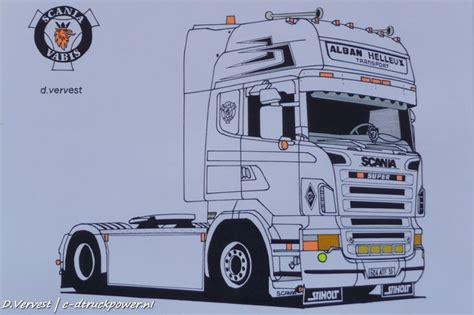 scania  tekening google zoeken tekenen voertuigen en vrachtwagens