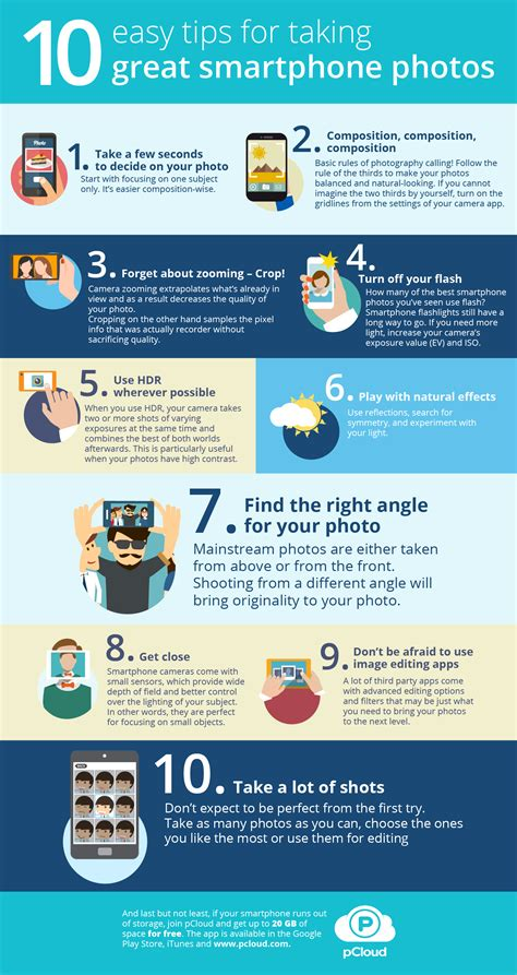 10 Tips For Better Phoneography [infographic]