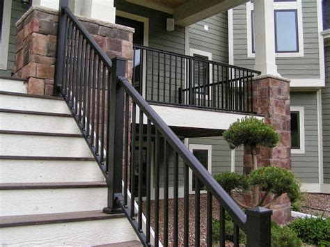 Outdoor Banisters And Railings by Exterior Railing Stair Solution