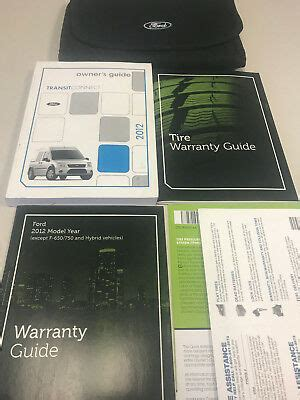ford transit connect xlt cargo van owners manual set