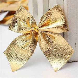 24pcs, Ribbon, Christmas, Decoration, Bows, Christmas, Decorations, Trees, Bow, Pendant, Ornaments, Santa
