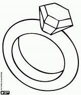 Coloring Ring Diamond Kardashian Kim Clipart Bridal Shower Kanye sketch template